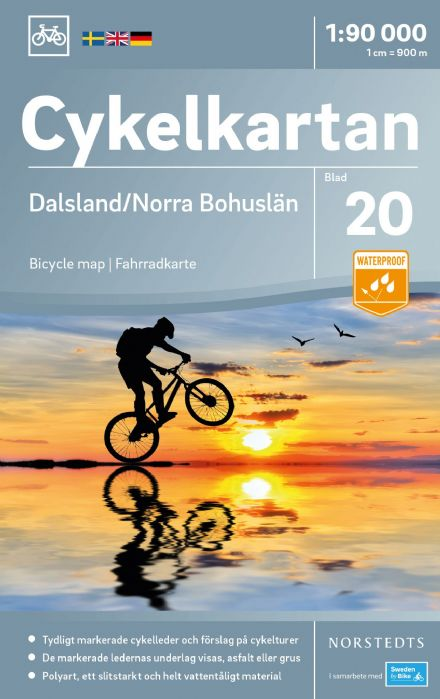 Sweden Cycling Map 20 - Dalsland & Bohuslän North